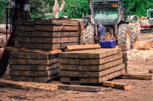Buckleigh Farm garden sleepers in production